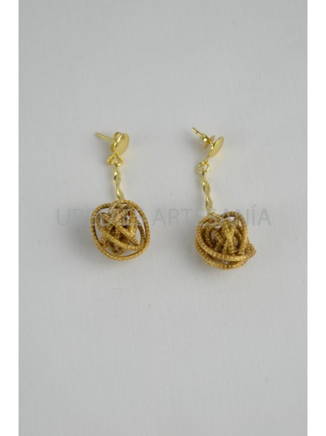 Ball earrings.