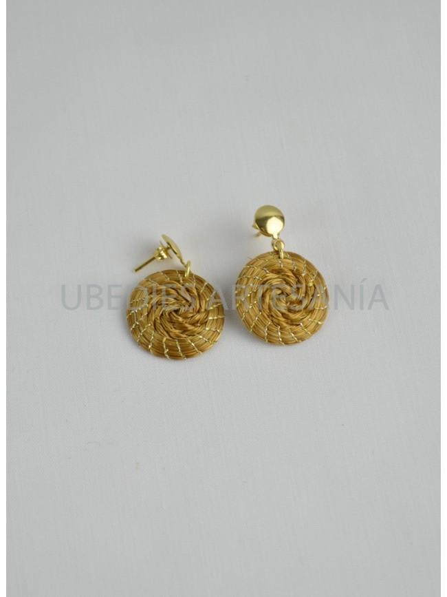 Braided Mandala earrings.