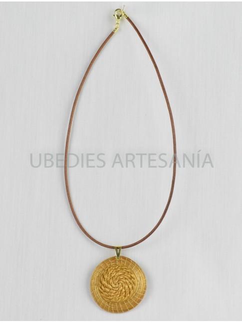 Braided Mandala pendant.