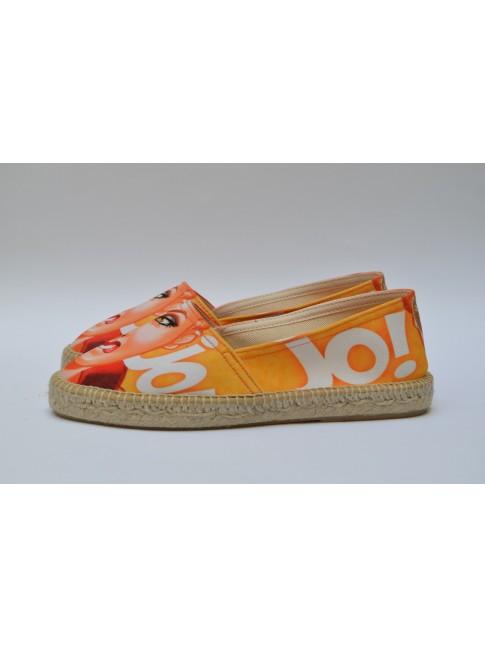 Pin Ups espadrilles for women, model JO. Jute flat sole.