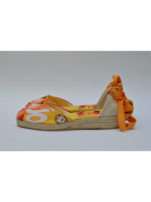 """Pin Ups espadrilles for women, """"JO"""" model. Jute wedge, 1 rope (3 cm.)"""