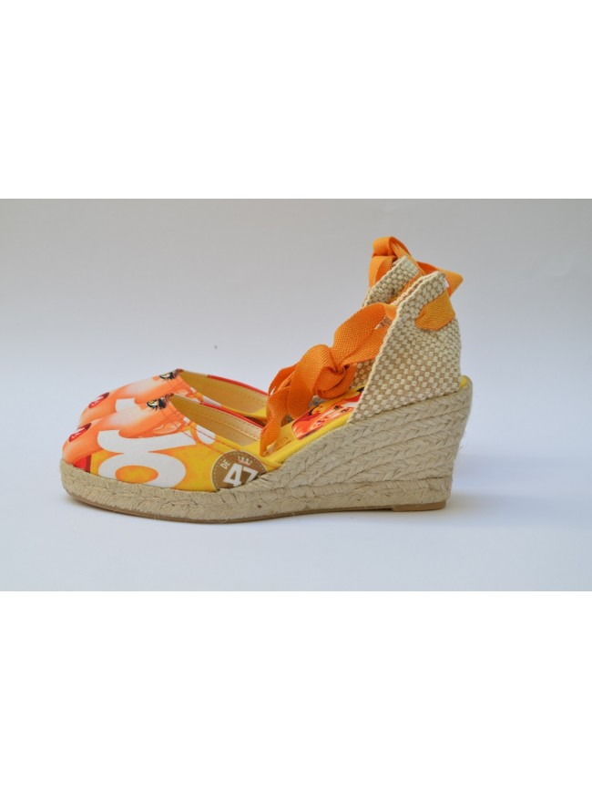 "Pin Ups espadrilles for women, ""JO"" model. Jute wedge, 5 cuerdas (7 cm.)"