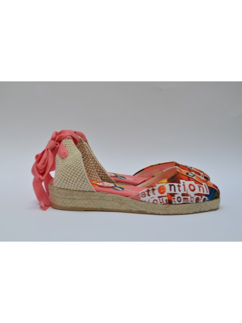 """Pin Ups espadrilles for women, """"TOMBEREZ"""" model. Jute wedge, 1 rope (3 cm.)"""